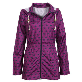 View Item Purple Heart Print Rain Mac